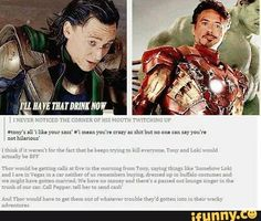 I want a movie or at least a series about Loki and tony doing things like this