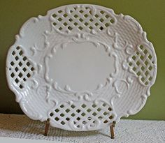 Porcelain Platter with Intricate Design. by AnythingDiscovered