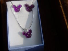 MOUSE+EARS+Necklace+and+Earrings+Set+for+Disney+by+hairswirls1,+$15.99