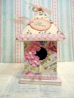Birdhouse Decoration Ornament  Home Sweet Home