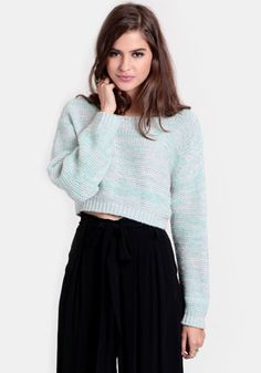 Make Believe Cropped Sweater 48.00 at threadsence.com