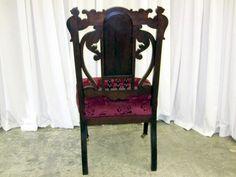 Antique Chair With Griffin & Northwind Face