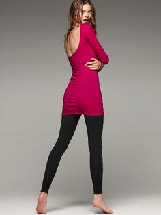 NEW!  Scoop Back Ruched Tunic #VictoriasSecret http://www.victoriassecret.com/sale/2-for-40-tunics-and-leggings/scoop-back-ruched-tunic?ProductID=85457=OLS?cm_mmc=pinterest-_-product-_-x-_-x