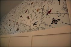 fantastic project by Shannon Berry - recreating expensive wallpaper with Sharpies & craft paint!  wow. (bit more info here: http://shannonberrey.com/_blog/Shannon_Berrey_Design_Blog/post/great_weekend/)