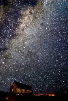 Night sky, Montana, USA  (time-lapse photo)
