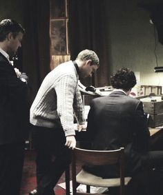 It was probably strange to see Sherlock allow another person so close to him...