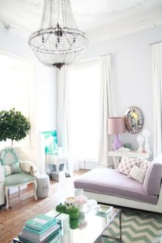 Decorate Girls Bedroom with Blue And Purple (each of my girl's favorite colors)