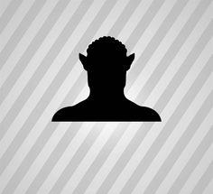 avatar Silhouette - Svg Dxf Eps Silhouette Rld RDWorks Pdf Png AI Files Digital Cut Vector File Svg File Cricut Laser Cut