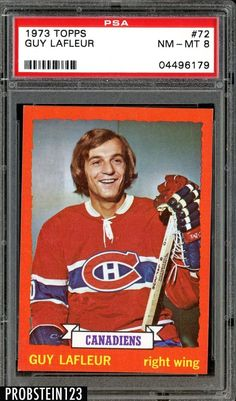 1973 Topps Guy Lafleur Hockey Card for sale online Pens Hockey, Hockey Cards, Ice Hockey, Baseball Cards, Montreal Canadiens, Nhl, Childhood, Guys, Sports