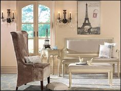 French Country Flea Market Home Decor And Posh Paris Themed Decorations Ideas Room