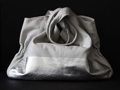 Remade: Silver-Leafed Leather Purse