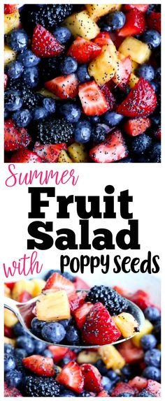 Need a crowd-pleasing fruit salad recipe? This Summer Fruit Salad with Citrus-Honey Sauce and Poppy Seeds is the best! Healthy Gluten Free Recipes, Real Food Recipes, Healthy Snacks, Cooking Recipes, Yummy Food, Healthy Cooking, Healthy Eats, Yummy Treats, Paleo
