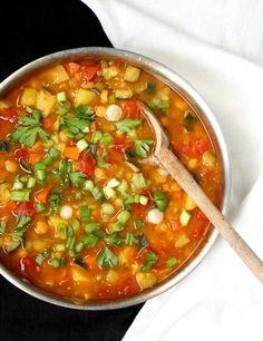 A tasty and nutritious vegan Moroccan Chickpea Stew. Harissa, a special paste of chilies and cumin, adds extra deliciousness to this stew. No oil recipe. Delicious Vegan Recipes, Vegetarian Recipes, Tasty, Healthy Recipes, Free Recipes, Healthy Food, Chickpea Stew, Bean Stew, Vegan Dishes