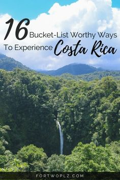 Planning a trip to Costa Rica and looking for best things to see, activities to do and places to go to,? Add these 16 fun activities to your Costa Rica bucket list. Travel Guide Travel Tips and Advice Adventure Best Things To Do #costarica #travelgu #TravelTipsIdeas