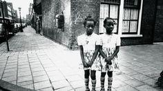 Twin girls in De Pijp neighbourhood, Amsterdam, 1975 Photo: Bert Nienhuis