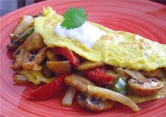 Mushroom Fajita Omelette
