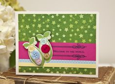 Welcome To The World Card by Ashley Cannon Newell for Papertrey Ink (May 2013)