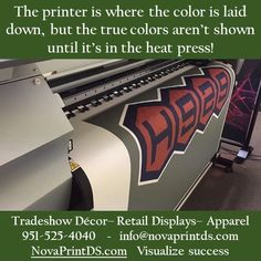 Regardless of what the finished product is, everything begins on the printer! #‎sublimation ‬ ‪