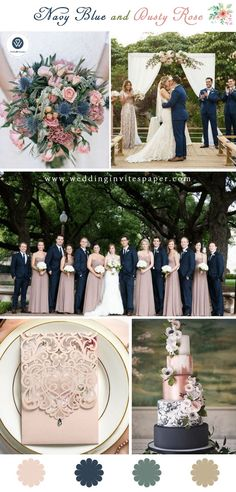 Top 8 Striking Navy Blue Wedding Color Palettes for 2019 Fall Top 8 Striking Navy Blue Wedding Color Palettes for 2019 Fall---navy and dusty rose, wedding invitation tips, simple and cheap wedding invitations, chic wedding invite<br> Navy Wedding Colors, Blue And Blush Wedding, Dusty Pink Weddings, Dusty Rose Wedding, Burgundy Wedding, Winter Wedding Colors, Navy Wedding Themes, Navy Weddings, Pink Wedding Theme