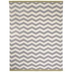 West Elm Zigzag Rug in Platinum/Ivory/Citron