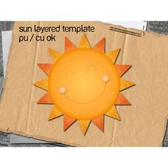 Cheery Layered Sun Template PSD - http://www.dawnbrushes.com/cheery-layered-sun-template-psd/