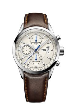 Freelancer 7730-STC-65021 Mens Watch - Freelancer automatic chronograph Steel on leather strap silver dial | RAYMOND WEIL Genève Luxury Watches