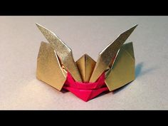 origami rhinoceros beetle 折り紙(おりがみ)カブト(かぶと) カブト虫 作り方 折り方 - YouTube