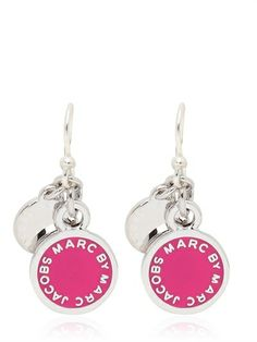 8f5296fac8a5f Marc by Marc Jacobs Classic Marc Enamel Disc Earrings on shopstyle.co.uk