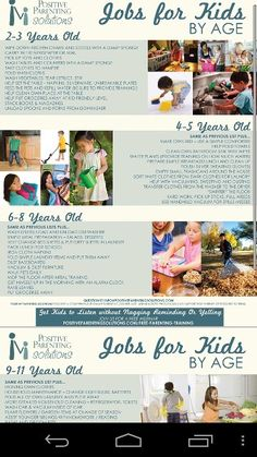 Simple household chores for kids by age...  http://www.positiveparentingsolutions.com/job-for-kids/