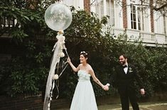 This bride pulls off a blue wedding dress amazingly well!