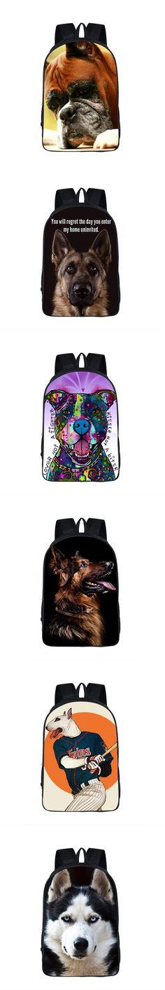Dog Boxer German Shepherd Backpack For Teenager Children School Bags Staffordshire Bull Terrier Animal School Backpack Kids Bag $28.69