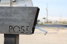 """""""Post"""" / MB2 Standard Post Mounted Mailbox / $450.00 / Austin Outdoor / via Etsy."""