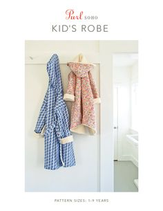 Purl Soho Kid's Robe from Purl Soho: With its cozy fleece or Sherpa lining, the Purl Soho Kid's Robe is cuddly enough for the under-10 set, and with its clean lines and a classic cut, it's good looking enough for their parents! The Purl Soho Kid's Robe Pattern includes sizes from 1- 9 years with either a snap closure or belt. For the lining we recommend a super soft knit fabric, such as Michael Miller's Organic Sherpa or Cotton Fleece and for the outer fabric, a beautiful woven cotton. We…