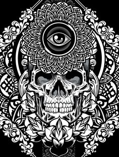 Mandala Exploration by Joshua M. Smith, via Behance #instaskulls