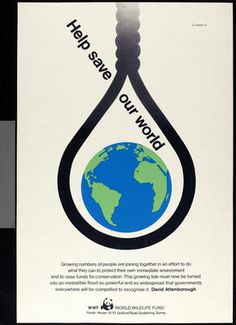 Tom Eckersley, WWF[Worldwide Wildlife Fund] poster - TEC - VADS: the online resource for visual arts Exam Messages, Wwf Poster, Gcse Exams, Aqa, Posca, Gcse Art, Year 2, Graphic Design Posters, Visual Arts