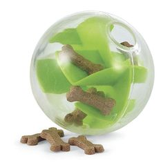This treat-inspired dog ball is a great way to challenge your pup!