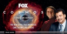 Cosmos: A Space-time Odyssey. I am so looking forward to this re imagining of Carl Sagan's 1980 Cosmos TV series. I wasn't surprised to see that it will be presented by Neil deGrasse Tyson or that it's producer is Sagan's widow, Ann Druyan. I was surprised however to see that it's executive producer is Seth MacFarlane (Family Guy, American Dad and Ted). He is apparently a big Sagan fan. Can't wait.