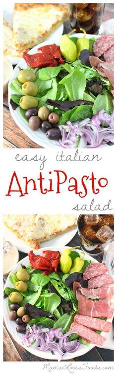 Easy Italian Antipasto Salad.  #EffortlessMeals #ad