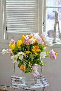Floral Arrangement ~ Tulips