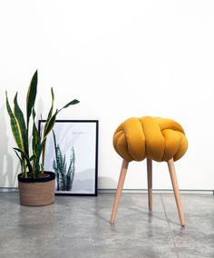 Mostaza heces de nudo silla diseño silla moderna industrial