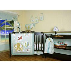 Geenny Boutique Sea World Animal 12 Piece Crib Bedding Set