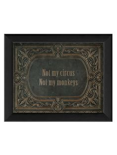 Not My Circus (Framed) by The Artwork Factory at Gilt