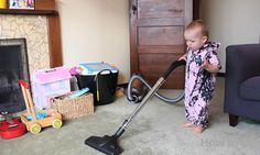 Babies can have super powers too…!  http://www.kickvick.com/baby-cleaning-house/