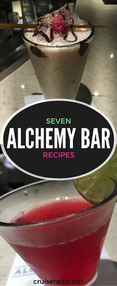 Alchemy Bar Recipes #bar #drinks #recipe #recipes #carnival #cruise #vacation #cocktail #cruising