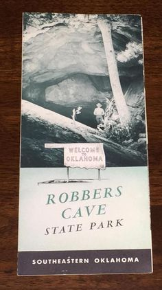 Robbers Cave State Park Brochure Southeastern Oklahoma Vintage 1950s Map