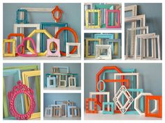 I have ordered a custom frame collection in our colors for the mantels and tables with guestbook puzzle.