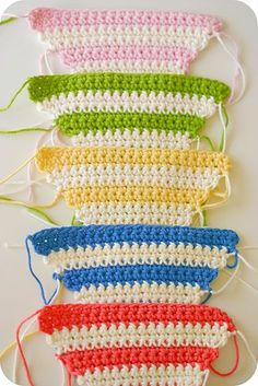 crochet bunting.... Fun for summer and to use up yarn!