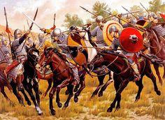 """King Henry's cavalry defeats Magyar raiders at Riade, 933"", Wayne Reynolds"