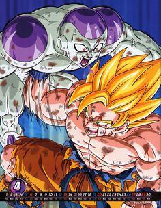 DBZ calendar Goku Frieza