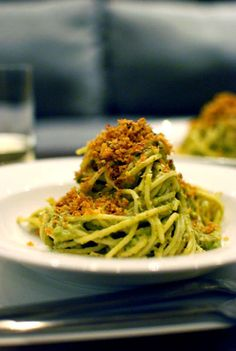 Avocado pasta. Heaven on a plate.